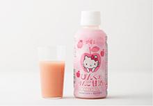 「ハローキティ」とコラボレーション。りんご風味のピンクの糀甘酒。
